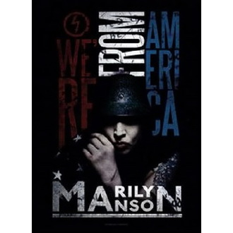 Flag Marilyn Manson - American Graffiti, HEART ROCK, Marilyn Manson