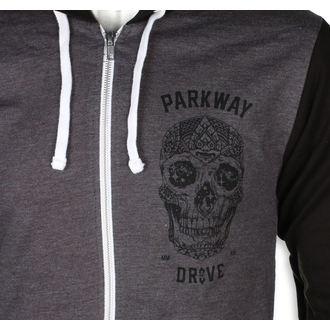 mikina pánská Parkway Drive - Skull - Charcoal Grey - KINGS ROAD