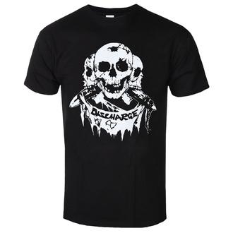 t-shirt metal men's Discharge - 3 SKULLS - PLASTIC HEAD