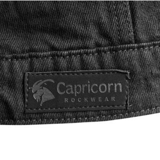 Men's vest CAPRICORN ROCKWEAR - black with frayed arms