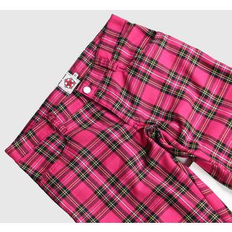 pants Black Pistol - Hipster Tartan Pink
