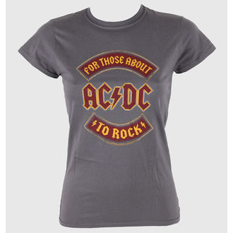 t-shirt metal women's AC-DC - About To Rock Banner - LIVE NATION