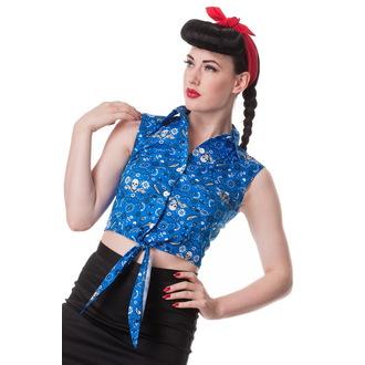 shirt (vest) women's HELL BUNNY - Bandana - Blu