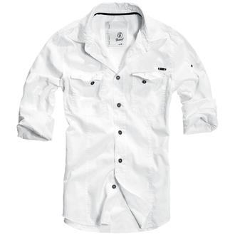 shirt men BRANDIT - Men Shirt Slim Weiss