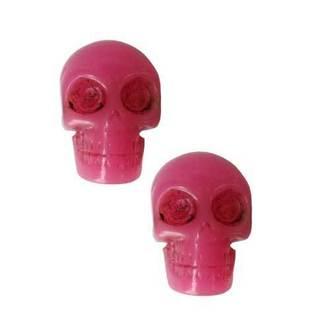 earrings KREEPSVILLE SIX SIX SIX - Skull - Pink