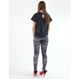 pants women (leggings) KREEPSVILLE SIX SIX SIX - Skele-Bone - Black Death