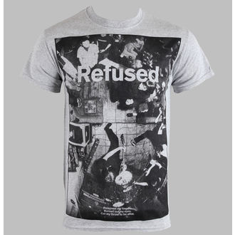 t-shirt men Refused - Live Photo - Heather Gray - KINGS ROAD