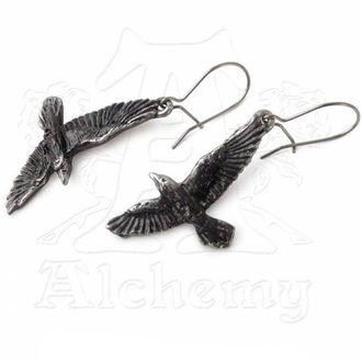 earrings Black Raven - ALCHEMY GOTHIC