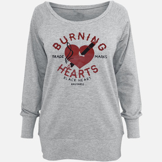 hoodie women's BLACK HEART - Burning
