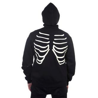 hoodie men's - Black Glow In The Dark Skeleton