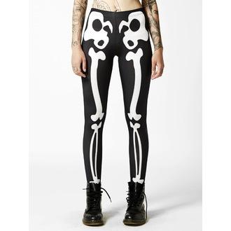 pants womens (leggings) Disturbia - Bones - Black / White