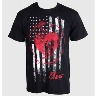 Metal T-Shirt men's Rise Against - Stained Flag - PLASTIC HEAD