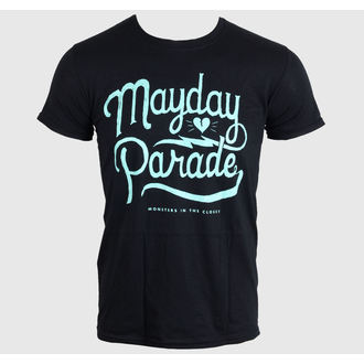 t-shirt metal men's Mayday Parade - SCRIPT -BLACK - LIVE NATION