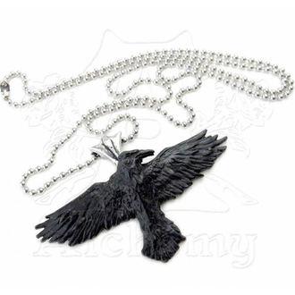 necklace ALCHEMY GOTHIC - Black Raven