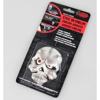 decoration (to car) LETHAL THREAT - Eyeball Skull Emblem