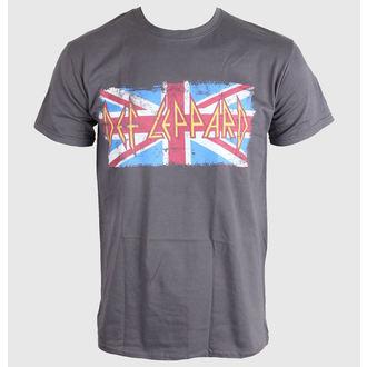 Metal T-Shirt men's Def Leppard - Union Jack - LIVE NATION