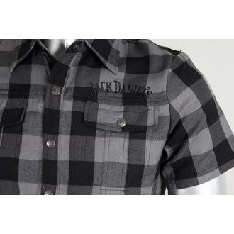 shirt men Jack Daniels - Checks - Black/Grey