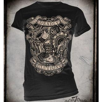 t-shirt hardcore women's - Gluttony - SE7EN DEADLY