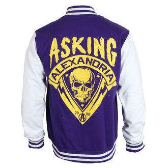 sweatshirt (no hood) men's Asking Alexandria - Skull Shield - PLASTIC HEAD