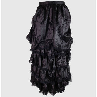 skirt women's Satin - Black