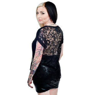 t-shirt gothic and punk women's - Black - TOO FAST