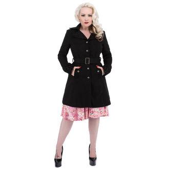 coat women's spring/autumn HEARTS AND ROSES - Black Black Flocking