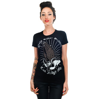 t-shirt gothic and punk women's - Silver Bullets - TOO FAST