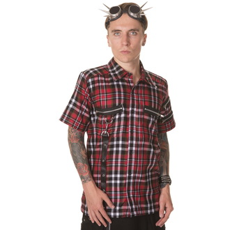 shirt men DEAD THREADS - Red / Black / White