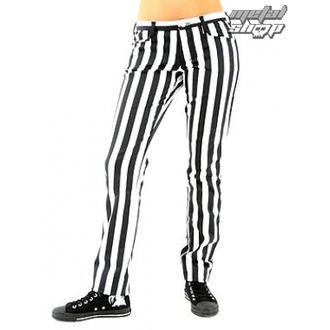 pants women Black Pistol - Close Pants Stripe Black / white