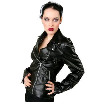 jacket women's (leather jacket) Black Pistol - Biker Jacket Sky Black
