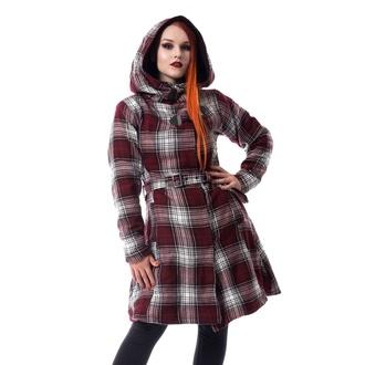 Women's coat Poizen Industries - VAIL - RED / WHITE CHECK