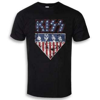 t-shirt metal men's Kiss - Stars & Stripes - HYBRIS