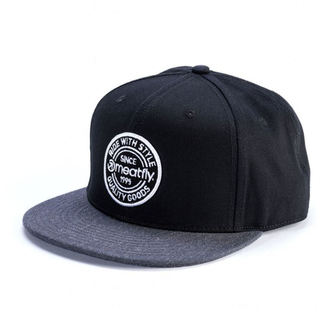 Cap MEATFLY - COMP SNAPBACK C - BLACK / DARK HEATHER, MEATFLY