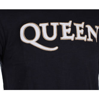 t-shirt metal men's Queen - Logo & Crest - ROCK OFF, ROCK OFF, Queen