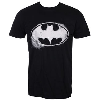 film t-shirt men's Batman - LOGO MONO DISTRESSED - LIVE NATION, LIVE NATION