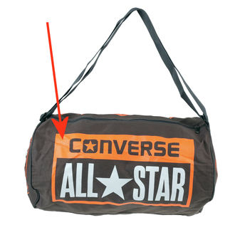 bag CONVERSE - Legacy Duffel - GREY / ORANGE - 410646-203 - DAMAGED, CONVERSE