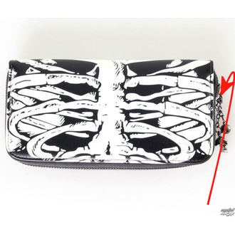wallet BANNED - Glow In The Dark Skeleton - DAMAGED, BANNED