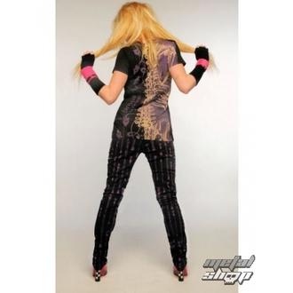 pants women HELL BUNNY - Zipper Skinny Jeans (Purple) - 5134 PUR