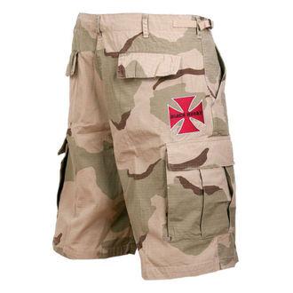 shorts men BLACK HEART - Woodland - Red Cross - Camo, BLACK HEART