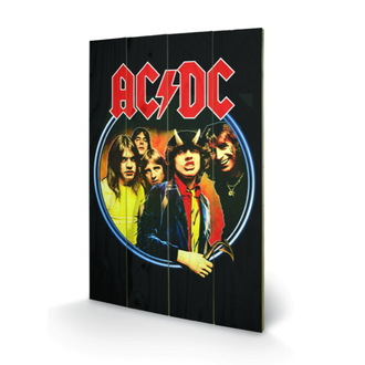 wooden image AC / DC - Group, PYRAMID POSTERS, AC-DC