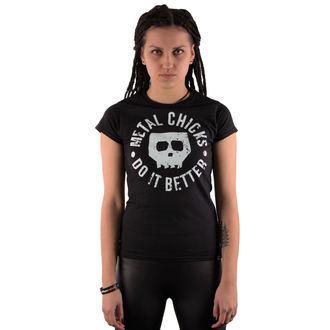 t-shirt hardcore women's - Skull - METAL CHICKS DO IT BETTER, METAL CHICKS DO IT BETTER