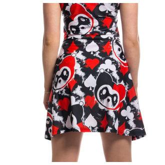 dress women KILLER PANDA - CARD - BLACK / RED, KILLER PANDA