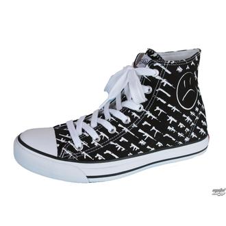 high sneakers women's - Alpha High Gunshow - ROGUE STATUS - Black/White