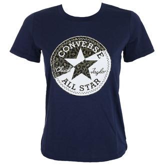 t-shirt street women's - Spliced Leopard - CONVERSE - 10004597-A01