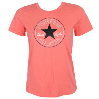t-shirt street women's - CORE SOLID CHUCK PATCH - CONVERSE, CONVERSE