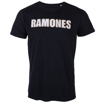 t-shirt metal men's Ramones - Logo & Seal Applique Slub - ROCK OFF, ROCK OFF, Ramones