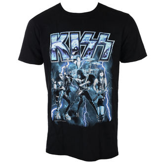 t-shirt metal men's Kiss - LIGHTNING - LIVE NATION, LIVE NATION, Kiss