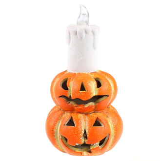 Decoration CERAMIC PUMPKIN WITH CANDLE AND LIGHT