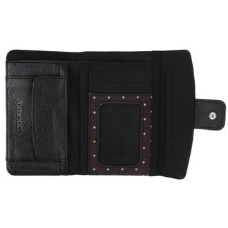 Wallet MEATFLY - Mia Ladies - Black, Black Rainbow Dot, MEATFLY