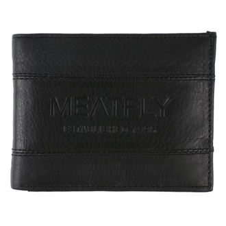 Wallet MEATFLY - Hurricane Leather - Black Leather, MEATFLY